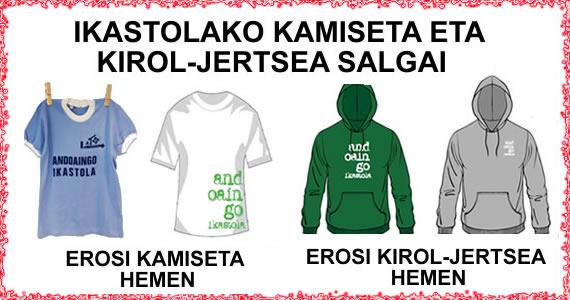 IKASTOLAKO KAMISETAK ETA KIROL-JERTSEA SALGAI